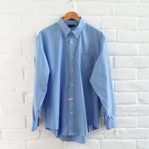 Blue Long Sleeve Button Down Dress Shirt 17.5 - 35